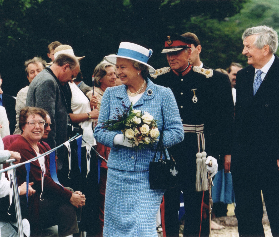 Her majesty the queen and harold currie 1997 timeline rebrand