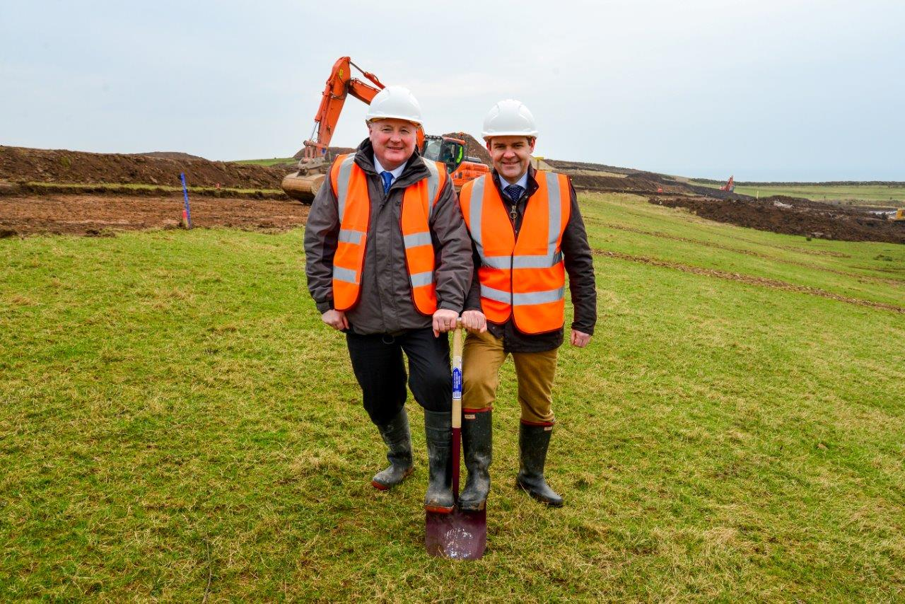 Turf cutting Lagg Distillery