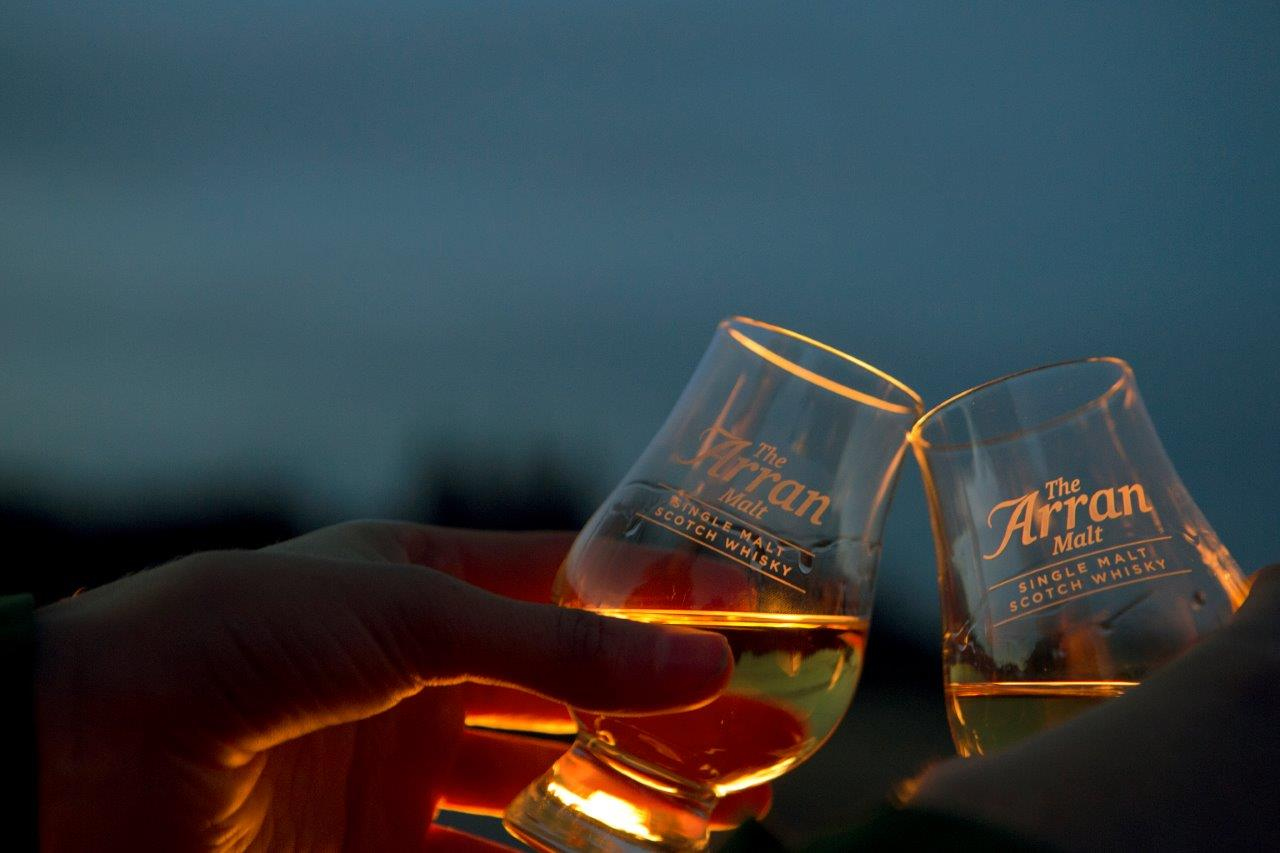 Arran whisky glasses