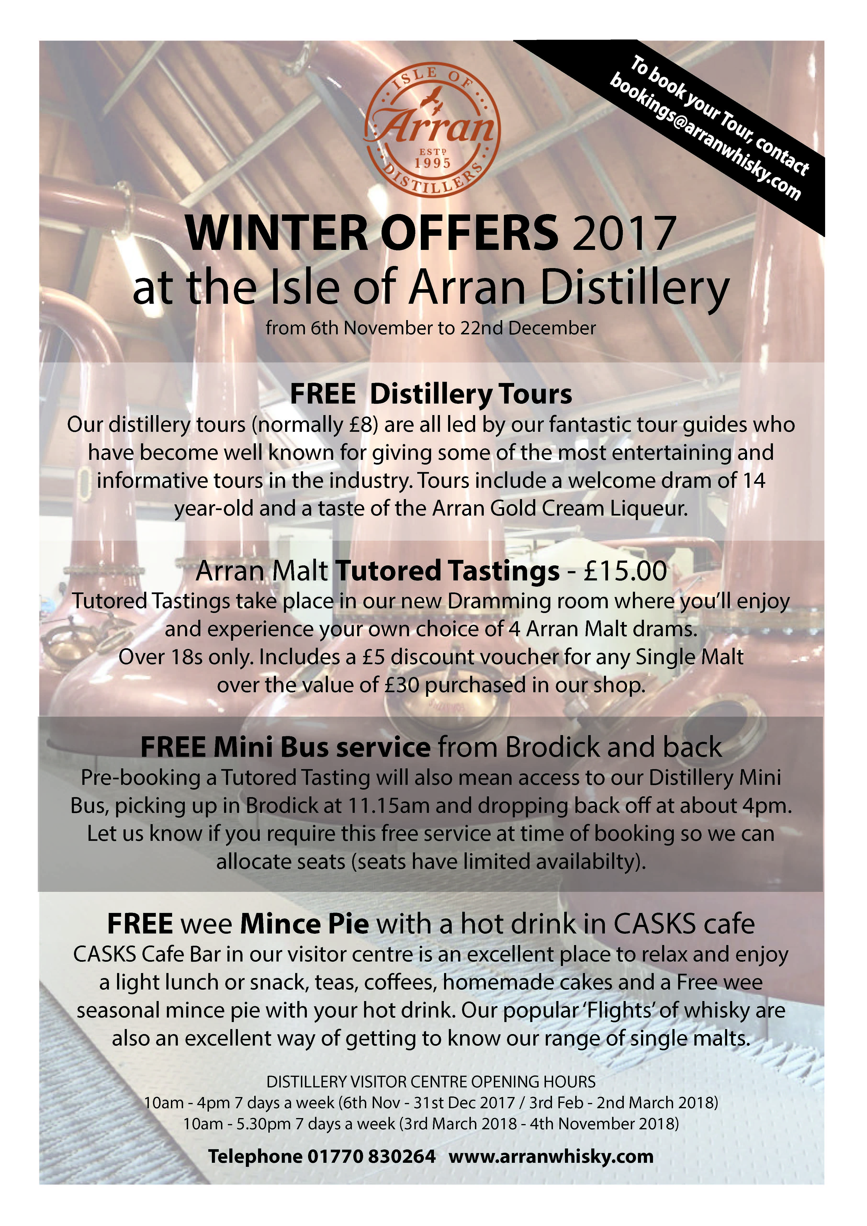 Visitor Centre Winter Offers 2017