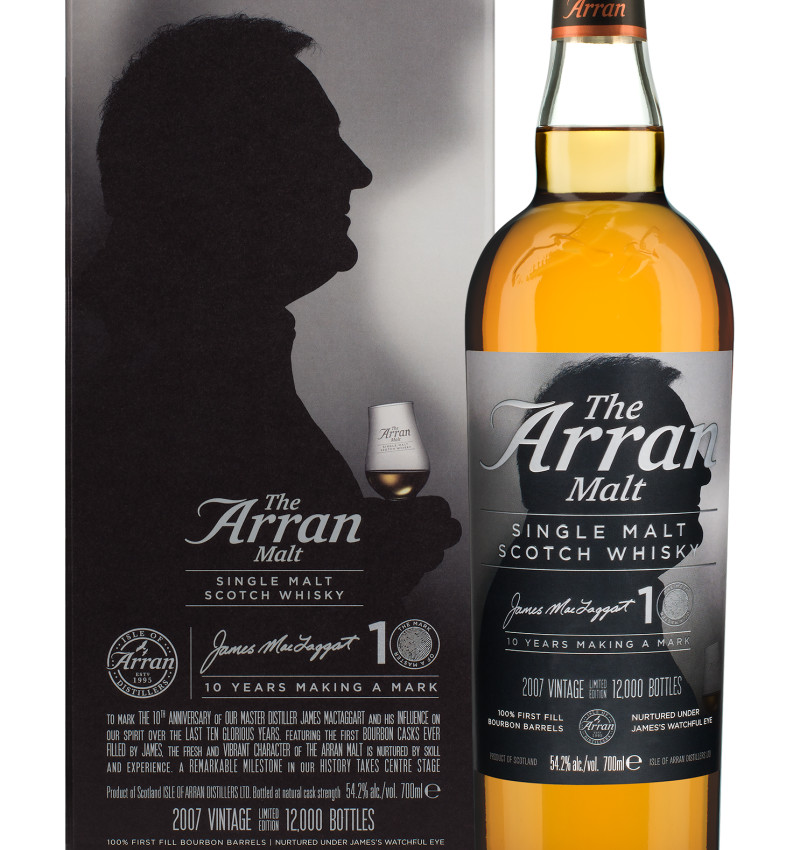 Arran james mctaggart bottle and box product listing
