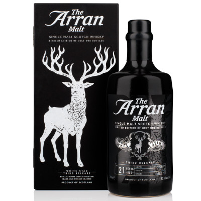 Arran white stag bottle and box listing