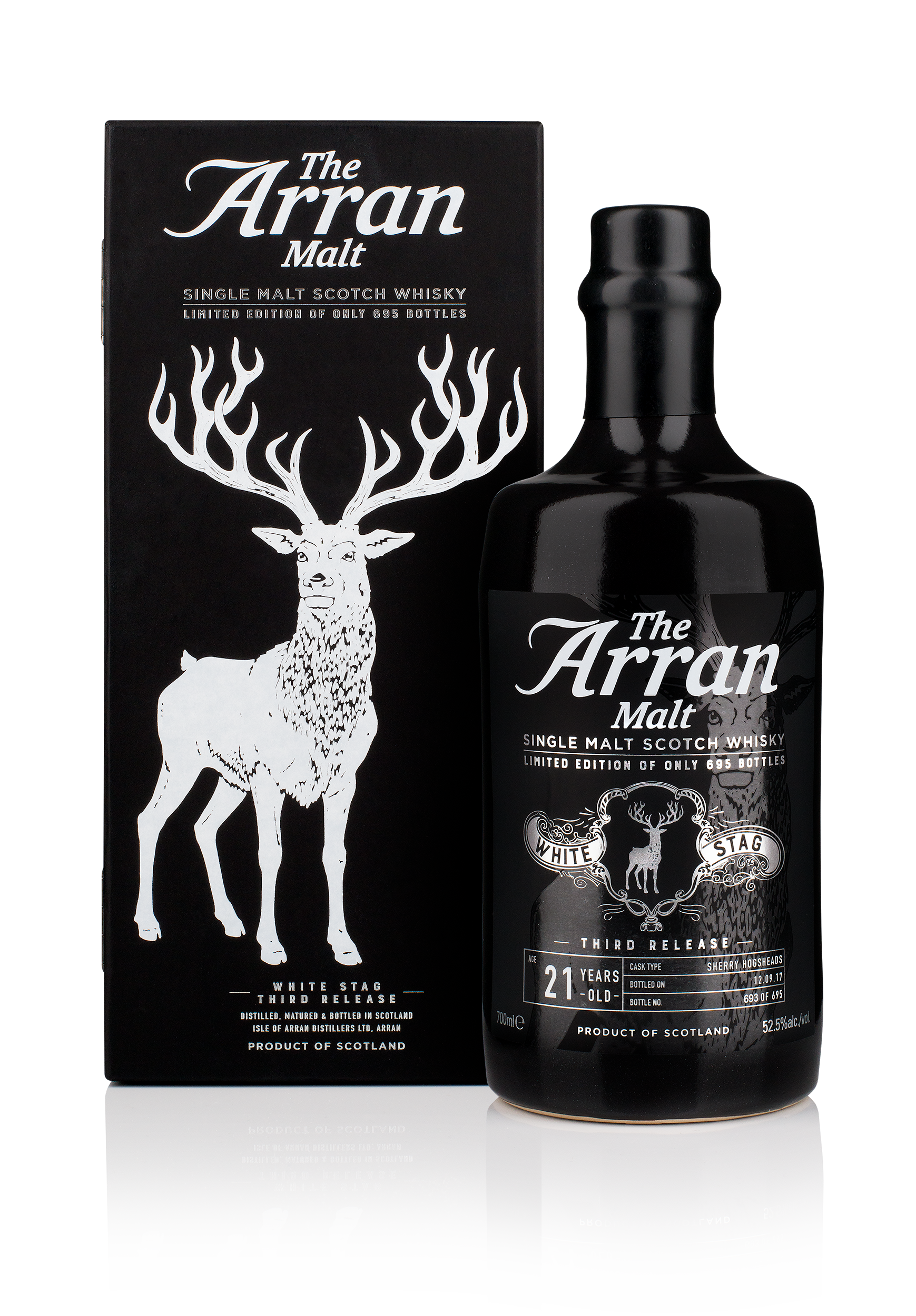 Arran White Stag Bottle and Box