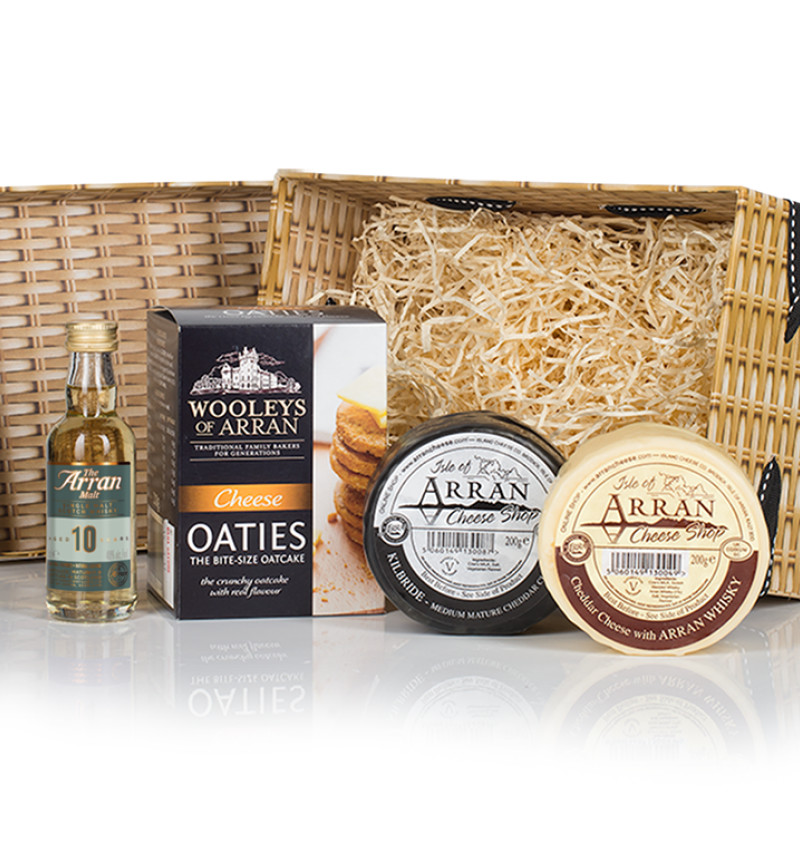 Festive cheese hamper product listing