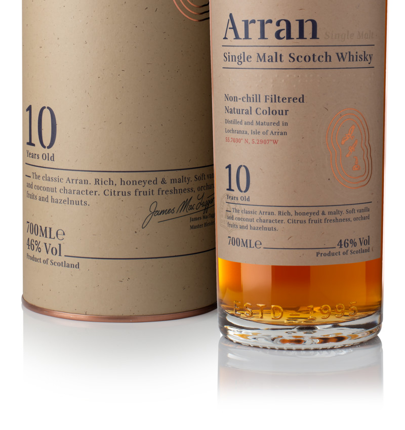 Ad arran 10yo bottle box product listing