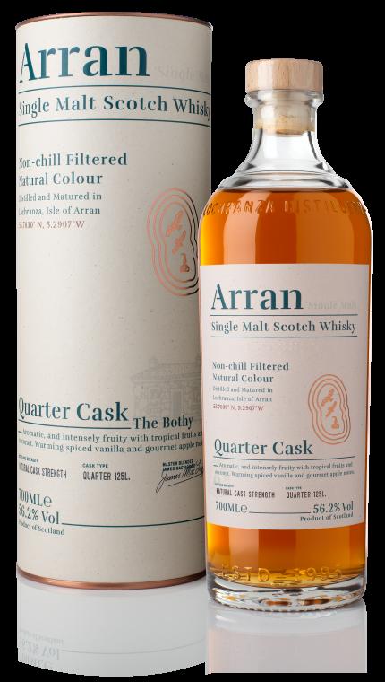 Ad arran quarter cask bottle box product detail rebrand
