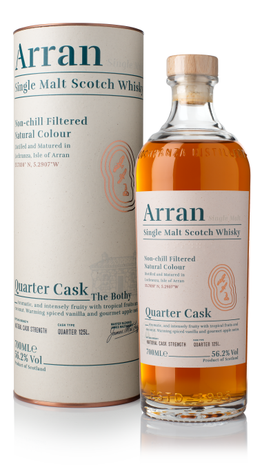 Ad arran quarter cask bottle box product listing rebrand