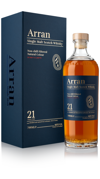 Ad arran 21yo bottle box product listing rebrand