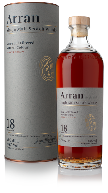 Ad arran 18yo bottle bottom label box product listing rebrand